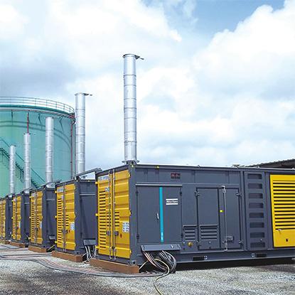 Containerized large diesel generators von Atlas Copco bei Schreiber Baumaschinen in Bremen, Bremerhaven und Lüneburg