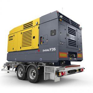 ATLAS COPCO Kompressor der DrillAir-Produktpalette bei Schreiber Baumaschinen in Bremen, Bremerhaven oder Lüneburg